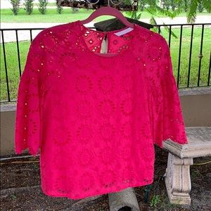 Hot pink Zara blouse